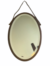 """Antique Brasscrafters 20.25""""x13.5"""" Art Deco Brass Oval Mirror Made in USA Vanity image 2"""