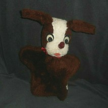 """10"""" VINTAGE MARY MEYER FINER STUFFED TOYS PLUSH HAND PUPPET BROWN PUPPY ... - $13.10"""