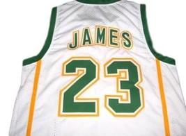 Lebron James #23 Irish High School Custom Basketball Jersey White Any Size image 5