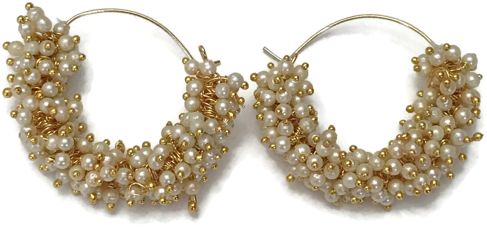 Ea e261 Bollywood Fashion Pearls Golden Earring Set. Indian Party wear Jewelry