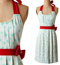 Anthropologie Lots o Dots Apron Turquioise Optional Bow Shower Wedding M... - £29.11 GBP