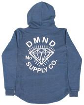 Diamond Supply Co. Men's Indigo Zip Up Scallop Bottom Hoodie NWT image 2