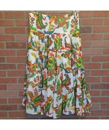 Lauren Ralph Lauren Boho Gypsie Tiered Long Skirt Size L Flare Ruffled (... - $29.69