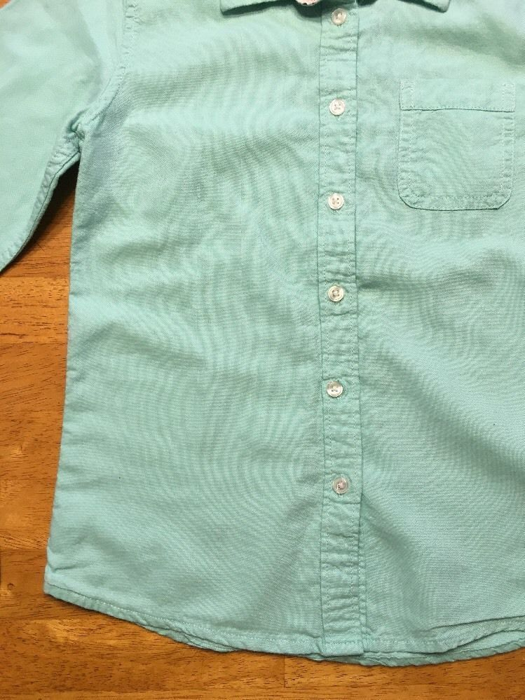 Gap Kids Girl's Teal Long Sleeve Dress Shirt - Size: Medium image 11