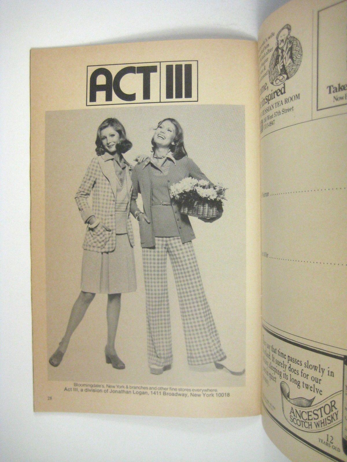 6 Rms Riv VuPlaybill 1973 Lunt Fontaine Theatre Jerry Orbach Alexander Randall