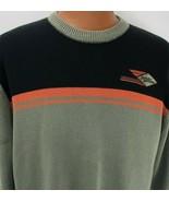 Harley Davidson Sweater Large Green Black Orange Embroidered PullOver Mo... - $98.99