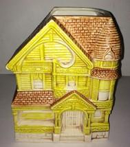 Vintage Yellow Victorian House Treasure Craft Cookie Jar - $9.99