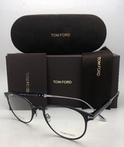 New TOM FORD Classic Eyeglasses TF 5482 001 50-21 Black & Silver Titaniu... - $479.95