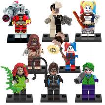 8pcs Minifigures DC Suicide Squad Joker Harley Quinn Two Face Scarecrow Block - $12.99