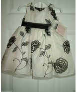 BONNIE Baby Girl Special Occasion/Flower Girl 2 pc Dress Set, Sz.18 Mos NWT - $25.73