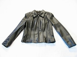 Moda International Victoria's Secret Womens Light Jacket Black Leather S... - $44.54