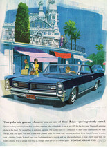 Vintage 1964 Magazine Ad Pontiac Grand Prix Pulse Rate Goes Up When You See It - $5.93