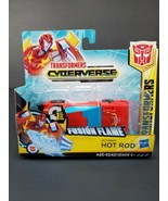 Transformers Cyberverse AutoBot Hot Rod Fusion Flame 1 Step Transformation  - $14.97