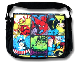 Cool MARVEL COMICS Superhero Grid Messenger Bag—Avengers  NEW!  - $25.00