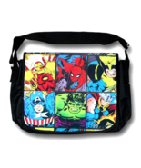 Cool MARVEL COMICS Superhero Grid Messenger Bag—Avengers  NEW!  - $25.00