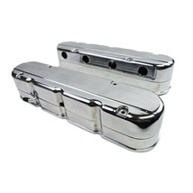 Chevy SB GM LS Smooth Cast Aluminum Valve Covers V8 293 325 376 427 Polished image 1