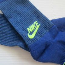 Nike Youth Cushioned Crew Socks - SX6840 - Blue - Size M - NEW - $6.99