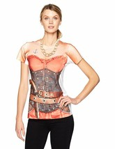 Faux Real Ladies Pirate Swashbuckler Womens Halloween Costume Shirt F138787 - $34.99
