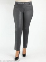NWT New Womens 22 James Jeans Icon Plus Size Coated Legging Leather Dark... - $100.00