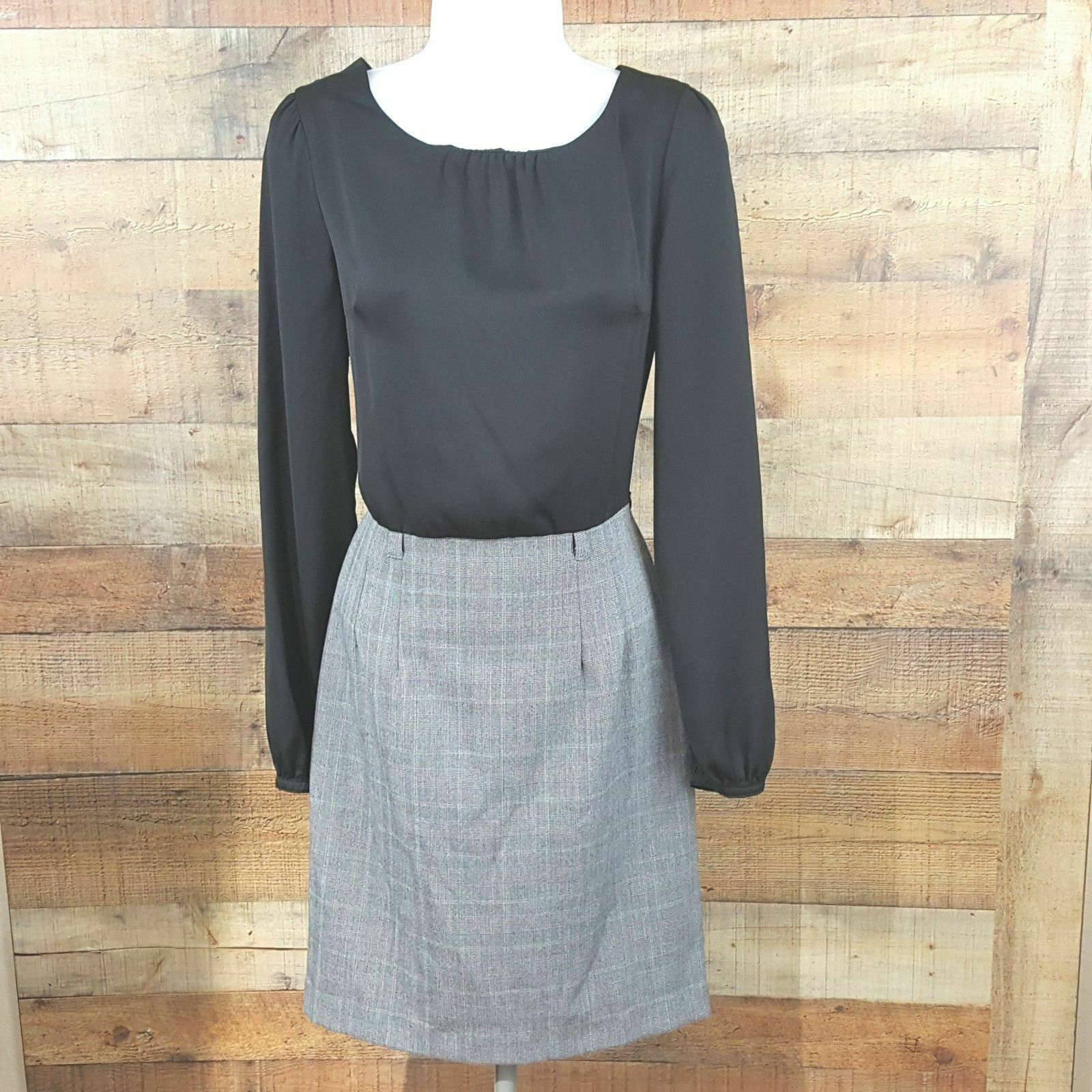 Forever 21 Essentials Dress Women's Size S Black Gray DB13