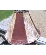 Leather Cowhide Lamp Shade Brown Western 1441 brown bz - $164.98