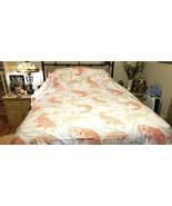 Pottery Barn Koi Fish Organic Duvet Cover Full/Queen White Orange NEWWOT... - $119.00