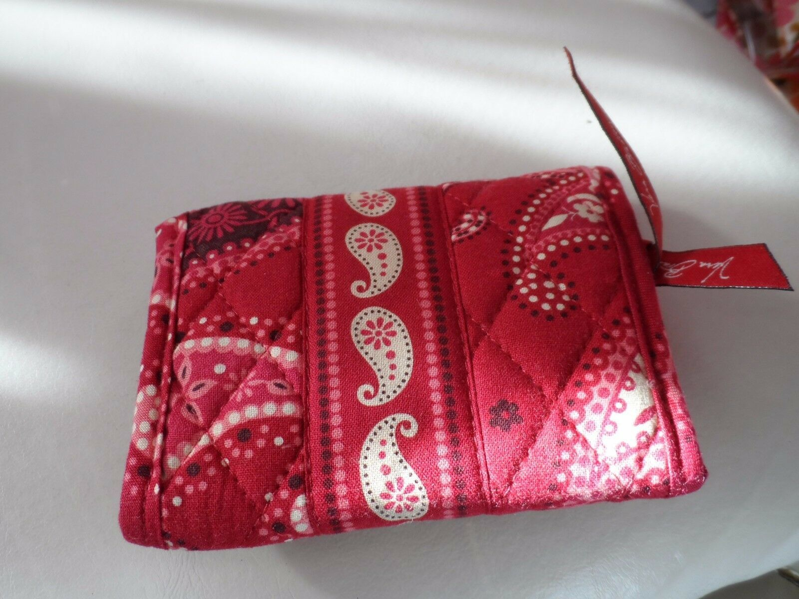 Vera Bradley trifold wallet in Mesa Red retired pattern