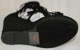 BF Betani Shiloh 8 Black Fringe Wedge Heel Sandals Size 6 image 7
