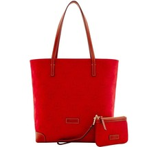 DOONEY & BOURKE CREST EVERYDAY WITH WRISTLET RED TOTE BAG - $187.11