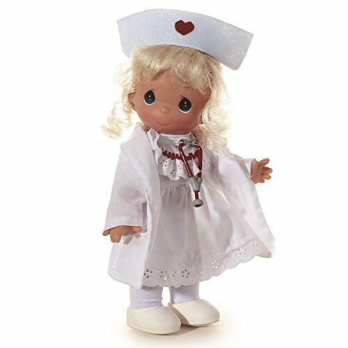"Precious Moments Loving Caring Nurse Doll Blonde The Doll Maker Linda Rick 7"""