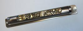 Judaica Mezuzah Case Engraved Jerusalem Old City View Blue Stones 12 cm  image 4