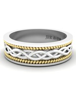 Jbr Woven Two Tone Sterling Silver Wedding Band - $113.12