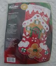 New Bucilla Gingerbread House Christmas Stocking Kit  #85102 - Circa 2004 - Felt - $32.99