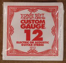 Set of 6 Ernie Ball Guitar Strings Size .012 - $6.18