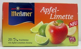 Messmer Apple Lime tea -20 tea bags- Made in Germany FREE SHIPPING - $8.90