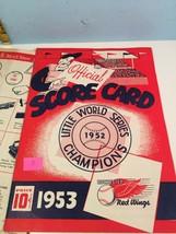 1953 Rochester Red Wings v Baltimore Baseball Scorecard EX #A - $31.68