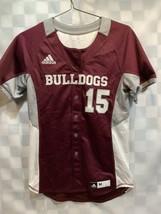 Mississippi State MSU Bulldogs Adidas Climalite #15 Baseball Jersey Size M - $39.59