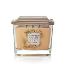 Yankee Candle, Medium 3-Wick Square Candles| Tonka Bean & Pumpkin - $18.46