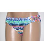 NEW Jessica Simpson Multi Bali Breeze Tab Sides Hipster Swim Bikini Bott... - $10.29