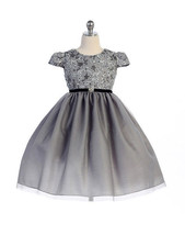 Stunning Silver Infant Flower Girl, Holiday, Party Dress, Crayon Kids USA - $37.99