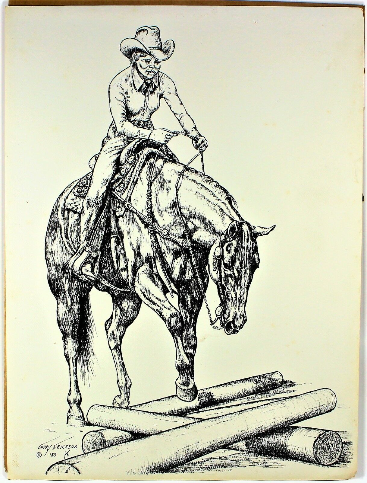 "Primary image for Western Cowgirl Limited Print by Gary Ericsson  12"" X 16"" 1983"