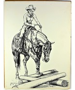 """Western Cowgirl Limited Print by Gary Ericsson  12"""" X 16"""" 1983 - $21.77"""