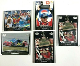 1998 Jeff Gordon 5 Trading Card Lot Upper Deck Nascar Newsstand - $9.50