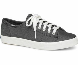 Keds WF59034 Women's Kickstart Chambray Black Shoes, 11 Med - $39.55