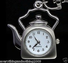 KETTLE Necklace Pocket Watch / Pendant  Key Chain & SPARKLING  chain - $4.14