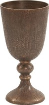 Vase Howard Elliott Chalice Small Dark Copper Textured - $169.00