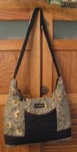Longaberger Shoulder Bag PURSE Green w Flowers Handbag Pocketbook  - $14.84