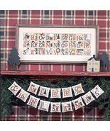 Christmas Alphabet BK64 REPRINT cross stitch chart Prairie Schooler - $10.80