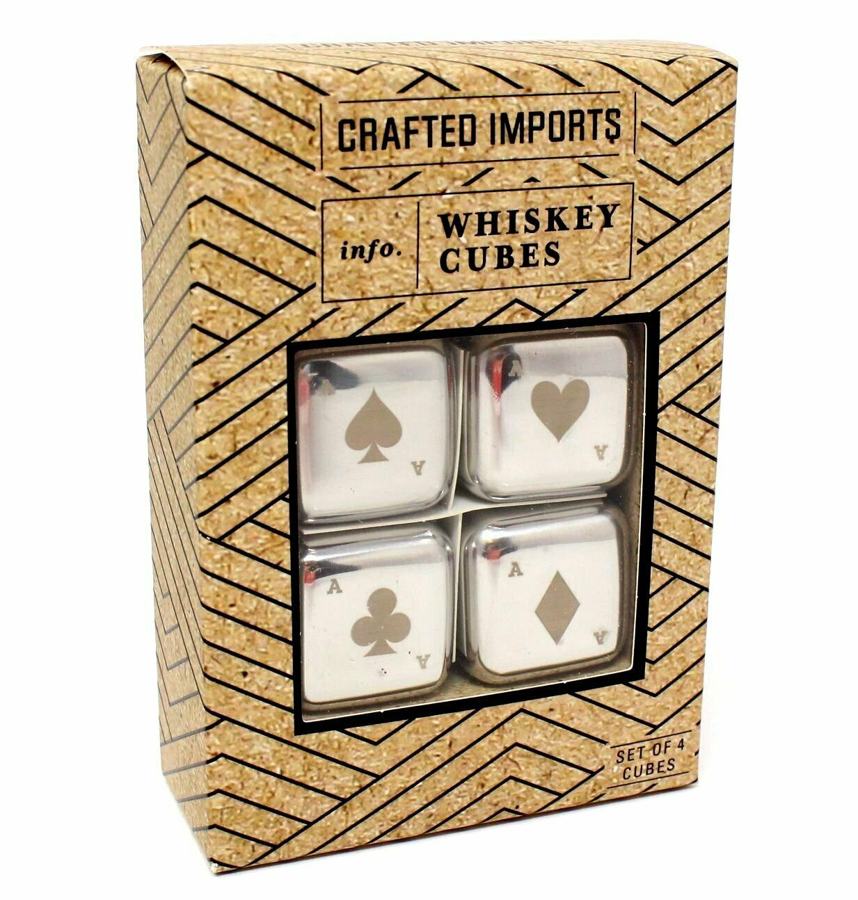 Primary image for Crafted Imports Whiskey Cubes Stainless Steel Poker Style Chilling Stone Reusabl