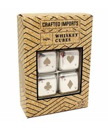Crafted Imports Whiskey Cubes Stainless Steel Poker Style Chilling Stone... - £13.56 GBP